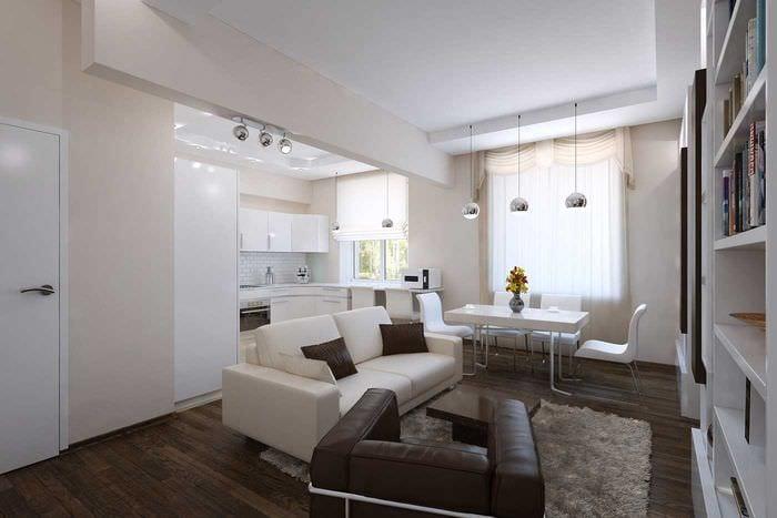 Дизайнерский ремонт в двухкомнатной квартире фото